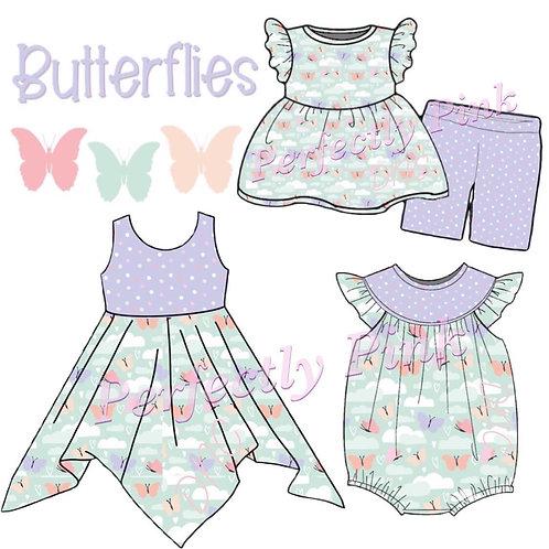 Butterflies  Dress , Romper or  Shorts Short Set Preorder Ends 4/29