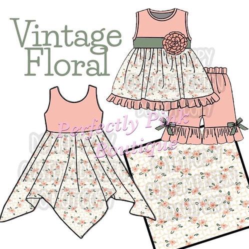 Vintage Floral Mia Dress Or Set Preorder Ends 5/20