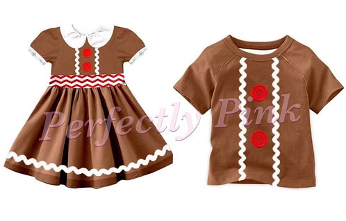 Cookies For Santa Chriaas Gingerbread Dress or Shirt Preorder Ends 7/12