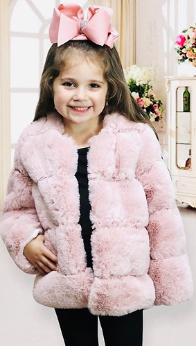 Perfectly Pink Faux Fur Coat
