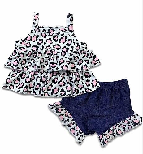 Baby Cheetah Shorts Set