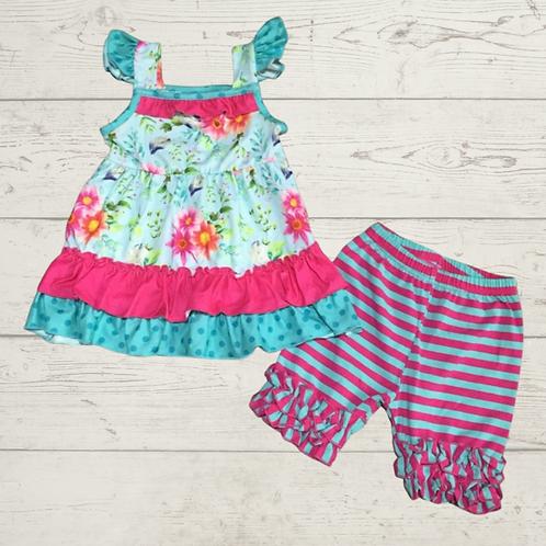 Cabana Girl Pink Shorts Set Open Preorder