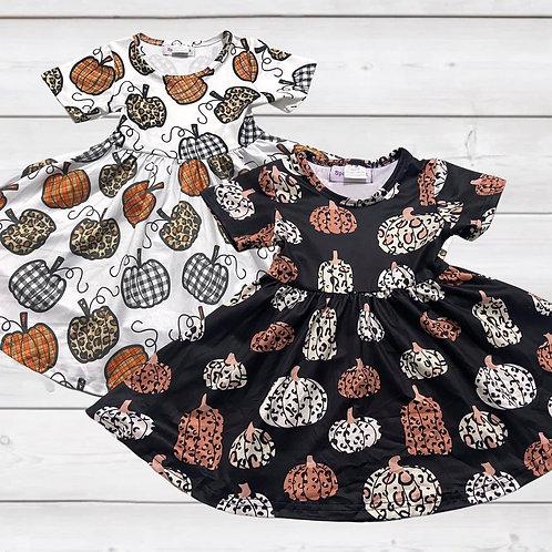 Wild Pumpkins Dress (2 Color Choices)