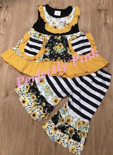 Summer Sunflower Stripes Set