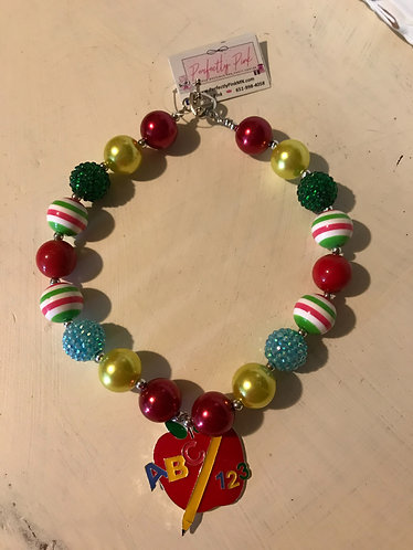 School Apple Necklace