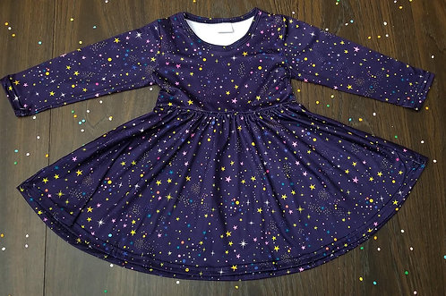 Starry Night Twirl Dress