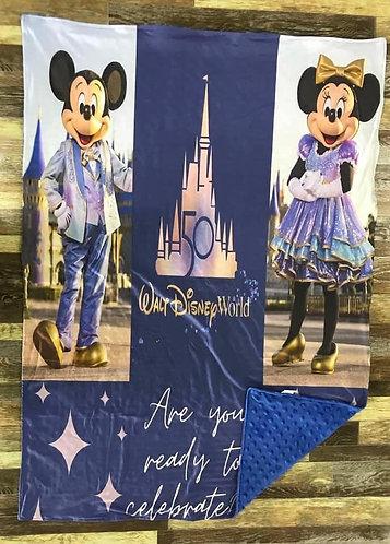 Magic Kingdom 50th Anniversary Minky Blanket Preorder Ends 6/25