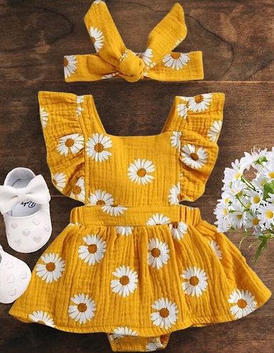 Little Daisy Babe Ruffle Onesie Set