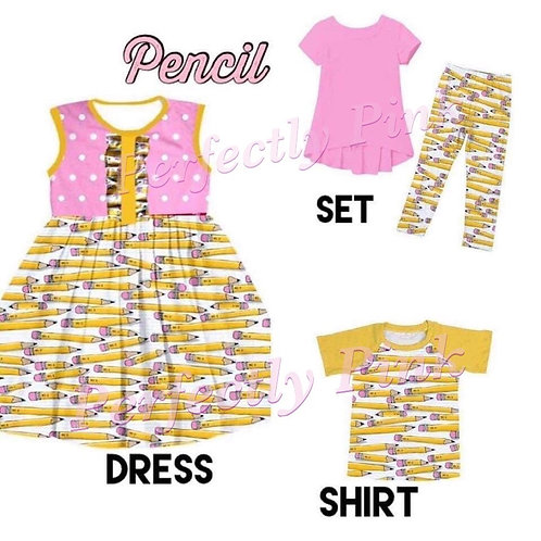 Pencil School Sibling Sets  Dress & Set Preorder Ends 4/5