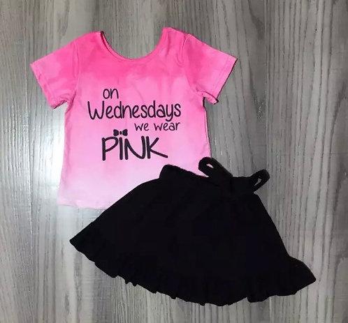 We Wear Pink Skirt Set