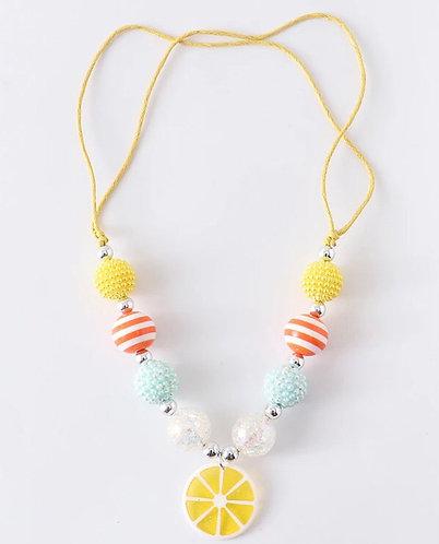 Lemon Squeezie Adjustable Necklace