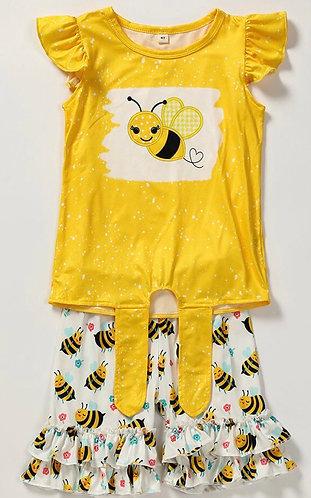 Bee Sweet Shorts Set