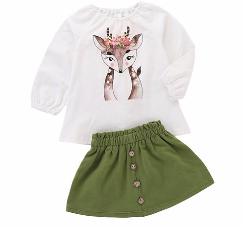 Oh Deer Skirt Set