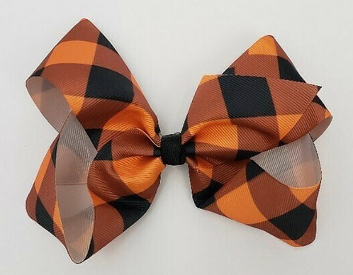 Fall & Winter Plaid Bows 6-8 Inch In Stock