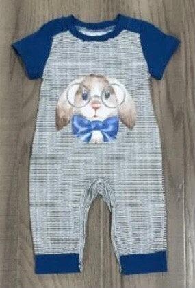 Smart Little Bunny Romper (Boys)