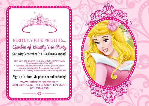 Garden of Beauty Tea Party with Sleeping Beauty