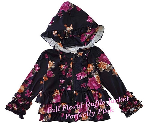 Fall Floral Ruffle Jacket