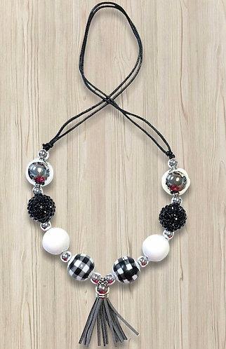 Springtime In Paris Tassel Adjustable Necklace