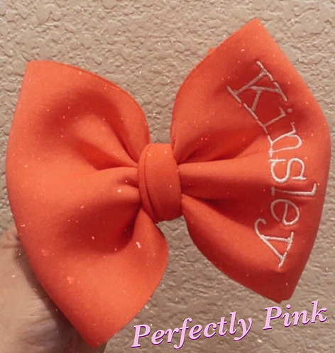 "5-5""-6"" Customized Name Bow Clip or Skinny Headband Preorder Ends 1/24"