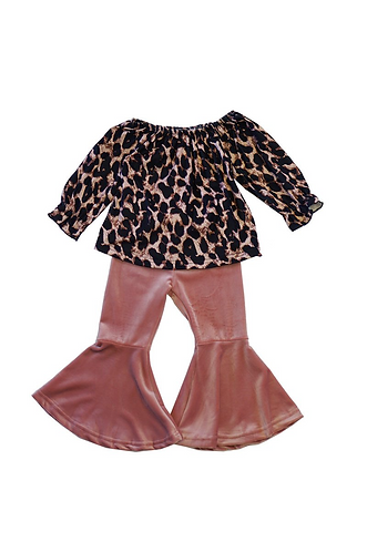Velvet Rose Leopard Set