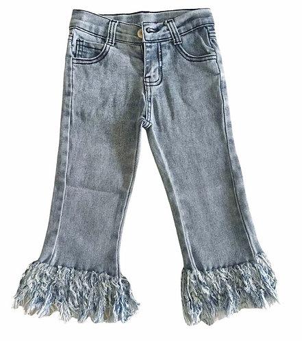 Frayed Bottom Jeans (Adjustable Waist)