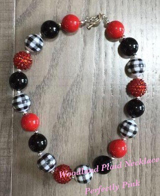 Woodland plaid Necklace (2 styles)