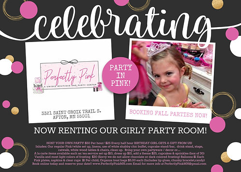 Party In Pink Room Reservation/Deposit
