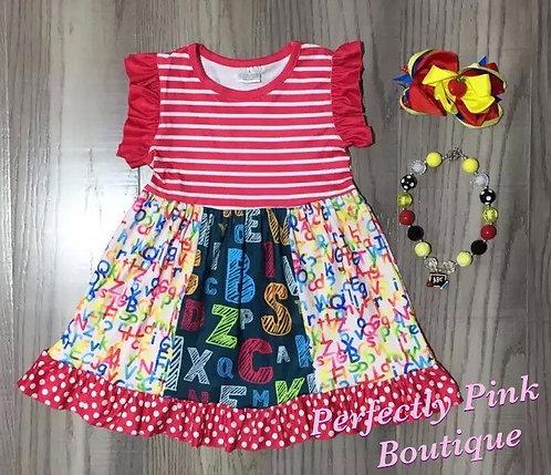 School Days Chalkboard & Primer Dress Set (Accessories Included)