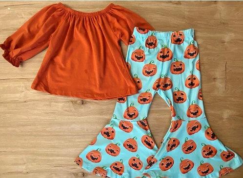 Teal Pumpkin Bell Set