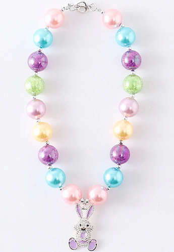 Rainbow Bunny Necklace