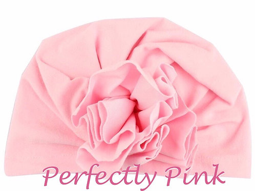 Turban Hat Headband Flower Puff (Lots of colors)