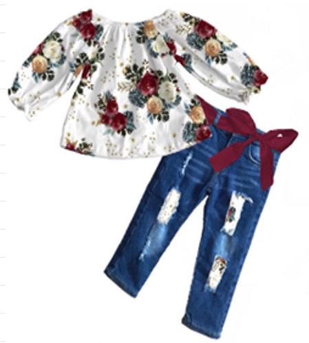Floral Bouquet Jean Set