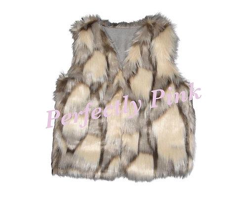 Faux Fur Vest - Latte