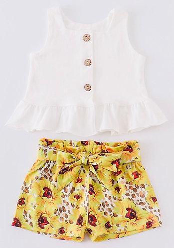 Wild Sunflowers Shorts Set