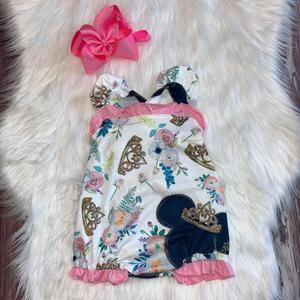 Princess Minnie Romper Custom Extras