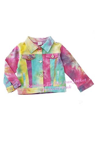 Rainbow Tie dye Jean Jacket