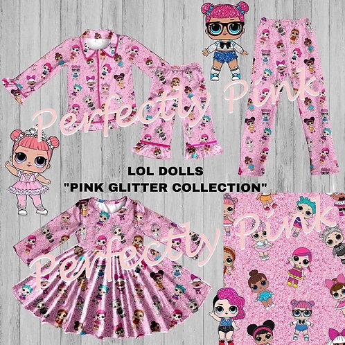 LOL Doll Pink Glitter Leggings