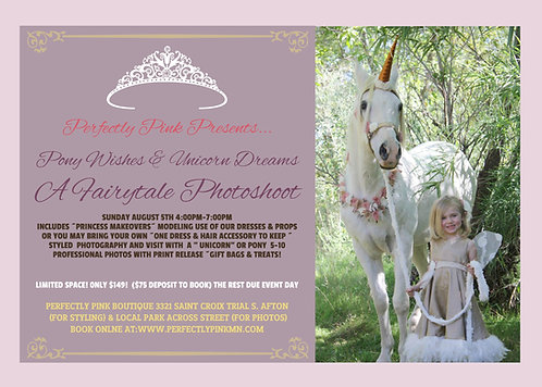 Pony wishes & Unicorn Dreams Fairytale Photoshoot