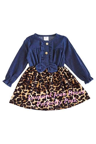 Leopard Jean Dress