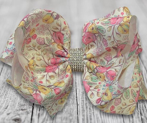 Pastel Floral Vintage Bow