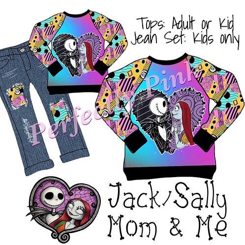 Jack & Sally Girls Jean/Shirt Set Preorder Ends 5/14
