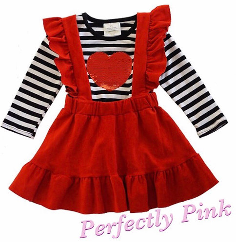 All My Heart Suspender Dress Set