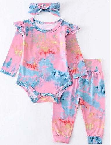Malibu Baby Tie Dye Onesie Set