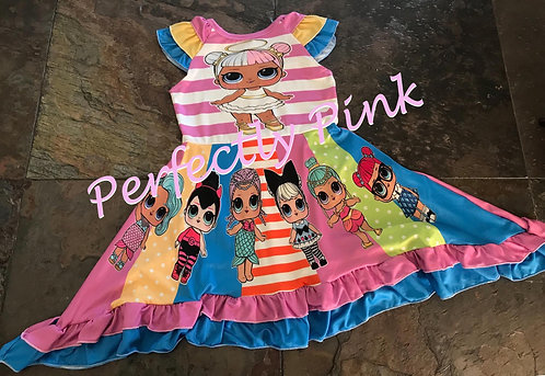 LOL Doll Rainbow Dress