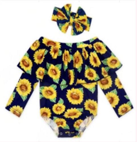 Sunflower Onesie Set