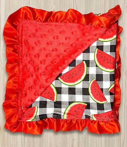 Watermelon Minky Blanket