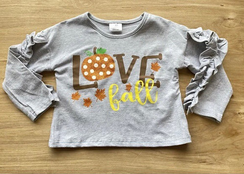 Love Fall Ruffle Shirt