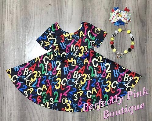 School Days Chalkboard Dress Set (Accessories Included)