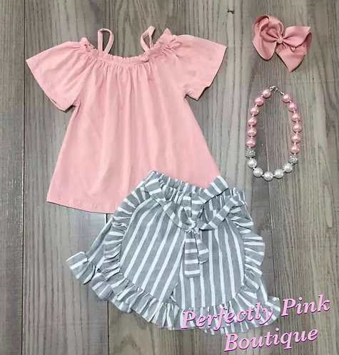 Pink Skies Shorts Set (Includes Accessories )