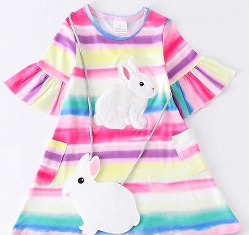 Rainbow Bunny Dress Set